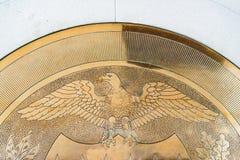 10-j χρυσή σφραγίδα στην Ηνωμένη Κεντρική Τράπεζα των ΗΠΑ Στοκ φωτογραφία με δικαίωμα ελεύθερης χρήσης