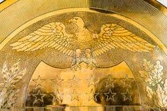 10-j χρυσή σφραγίδα στην Ηνωμένη Κεντρική Τράπεζα των ΗΠΑ Στοκ εικόνες με δικαίωμα ελεύθερης χρήσης