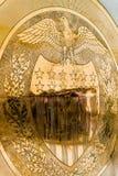 10-j χρυσή σφραγίδα στην Ηνωμένη Κεντρική Τράπεζα των ΗΠΑ Στοκ Εικόνα