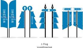 J-флаг, флаг, скандинавский, нордический стиль, праздники рождества зимнего отдыха Вязать дизайн свитера стоковые фотографии rf