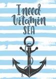 J'ai besoin de la mer de vitamine Image libre de droits