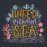 J'ai besoin de la mer de vitamine Photographie stock libre de droits