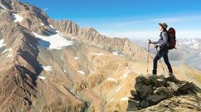 J'ai finalement atteint le sommet ! Image libre de droits