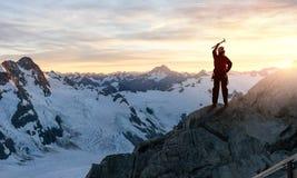 J'ai finalement atteint le sommet ! Image stock