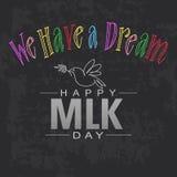 J'ai un rêve Martin Luther King heureux Photo libre de droits