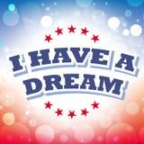 J'ai une carte de voeux rêveuse Photo libre de droits