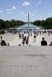 J'ai une tache rêveuse de la parole de Martin Luther King Image stock
