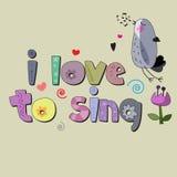 J'aime chanter Image libre de droits