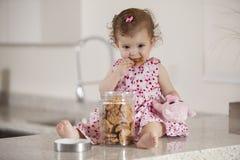 J'aime des biscuits image libre de droits