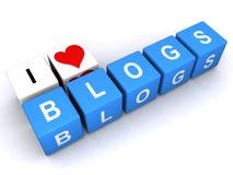J'aime des blogs illustration libre de droits