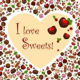 J'aime des bonbons ! Image libre de droits