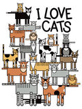 J'aime des chats Image stock
