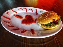 J'aime des hamburgers photographie stock libre de droits