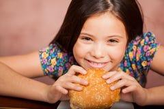 J'aime des hamburgers ! photographie stock libre de droits