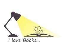 J'aime des livres Image libre de droits