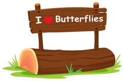 J'aime des papillons Image libre de droits