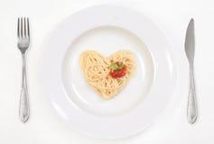 j'aime des spaghetti Photos libres de droits