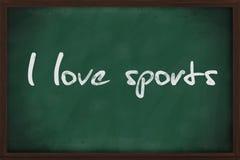 J'aime des sports Photo libre de droits