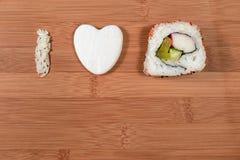 J'aime des sushi Photographie stock