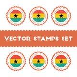 J'aime des timbres de vecteur du Ghana réglés Photos libres de droits