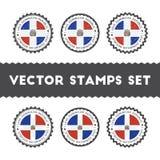 J'aime des timbres de vecteur de la République Dominicaine réglés illustration de vecteur
