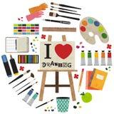 J'aime dessiner Photo stock