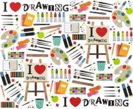 J'aime dessiner Images stock