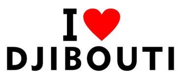 J'aime Djibouti Images stock