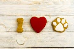 J'aime et adore des chiens Le chien est mon ami Photos stock