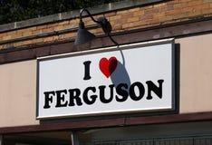 J'aime Ferguson Images libres de droits