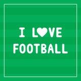 J'aime football3 Images libres de droits