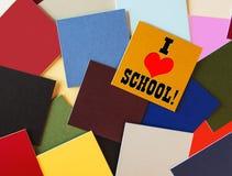J'aime l'école - enseignement et éducation ! Photos libres de droits
