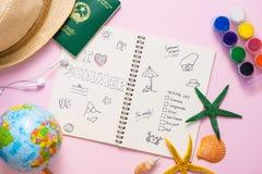 J'aime l'été écrit sur le carnet de stylo Concept de vacances de vacances Photos libres de droits