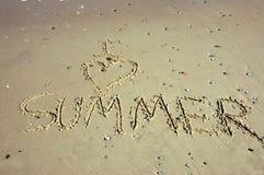 J'aime l'été Images libres de droits
