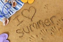 J'aime l'été Photographie stock