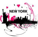J'aime l'affiche de New York Photo libre de droits