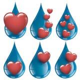 J'aime l'eau fraîche et pure - amour de l'eau de collection Photos libres de droits