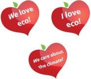 J'aime l'eco Image stock