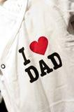 J'aime l'habillement de bébé de papa Images stock
