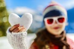 J'aime l'hiver Images libres de droits