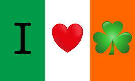 J'aime l'Irlande illustration libre de droits