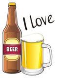 J'aime la bière Image libre de droits