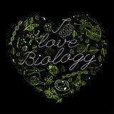 J'aime la biologie 03 A Photo stock