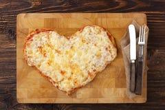 J'aime la consommation de pizza Images stock
