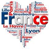 J'aime la France illustration libre de droits