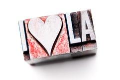 J'aime la LA Photos stock
