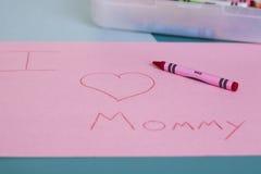 J'aime la maman Image stock