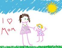 J'aime la maman illustration stock