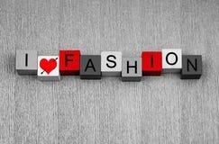 J'aime la mode - pour la beauté et la mode Image libre de droits