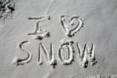 J'aime la neige Image stock